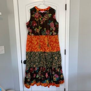 Woman Within Floral Boho Dress Size 18W NWOT